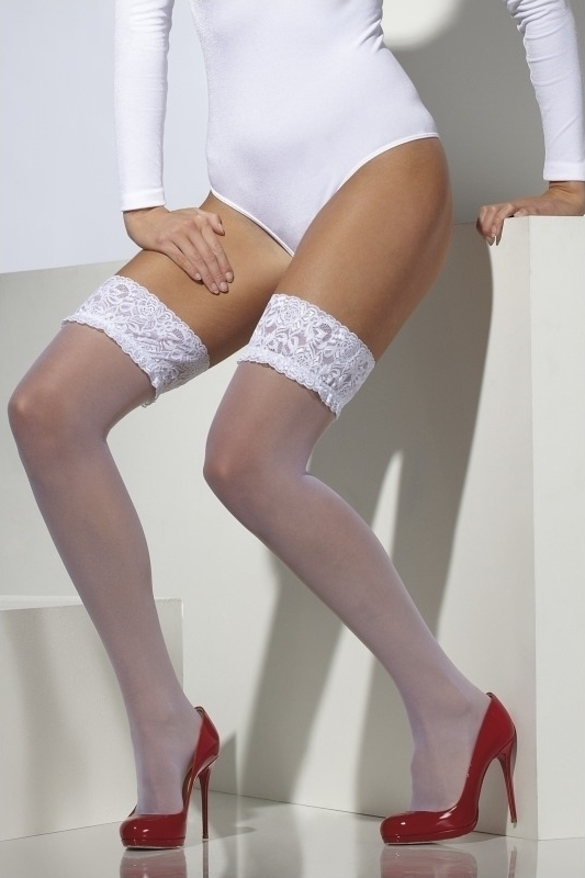 Ciorapi Fever Sheer Hold-Ups albi