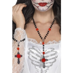 Colier Day of The Dead Cruce cu Matanii